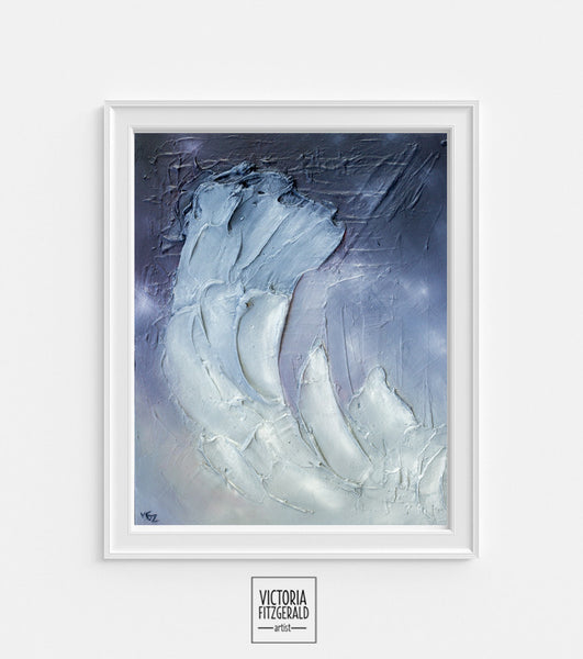 Limited Edition Abstract Art Print 'obdurate' - State of Being Alphabet Series - vfitzartist