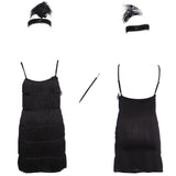 1920's Vintage Flapper Dress Black