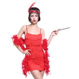 1920's Vintage Flapper Dress Red