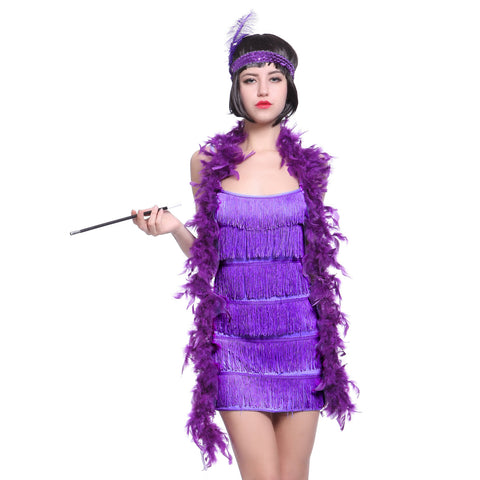 1920's Vintage Flapper Dress Purple