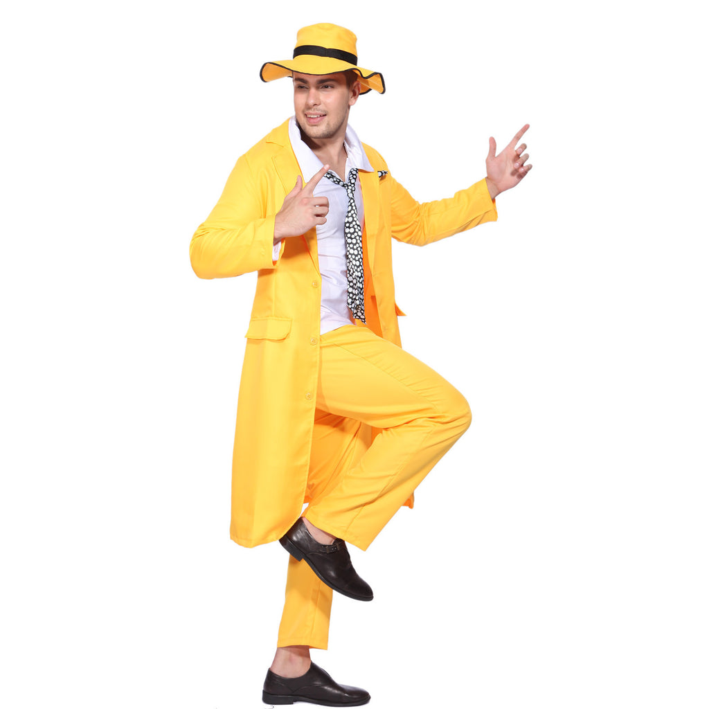 <The Mask> Yellow Suit Gangster Costume