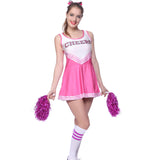 Ladies Cheerleader School Girl Fancy Dress