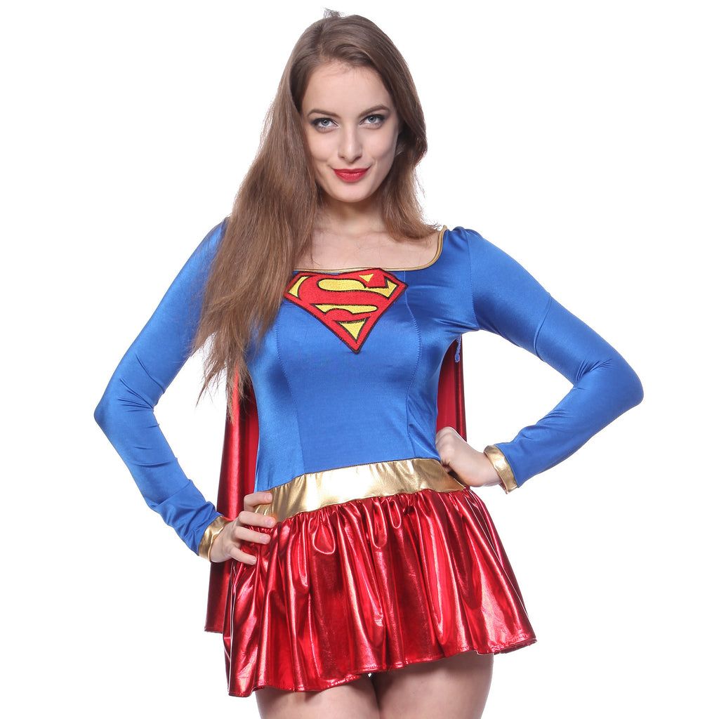 Supergirl Superhero Outfit Fancy Dress