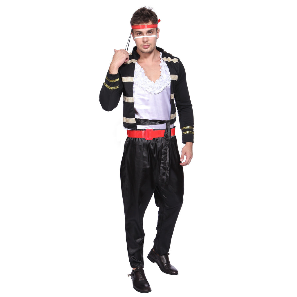 Mens 1980s Adam Ant Costume