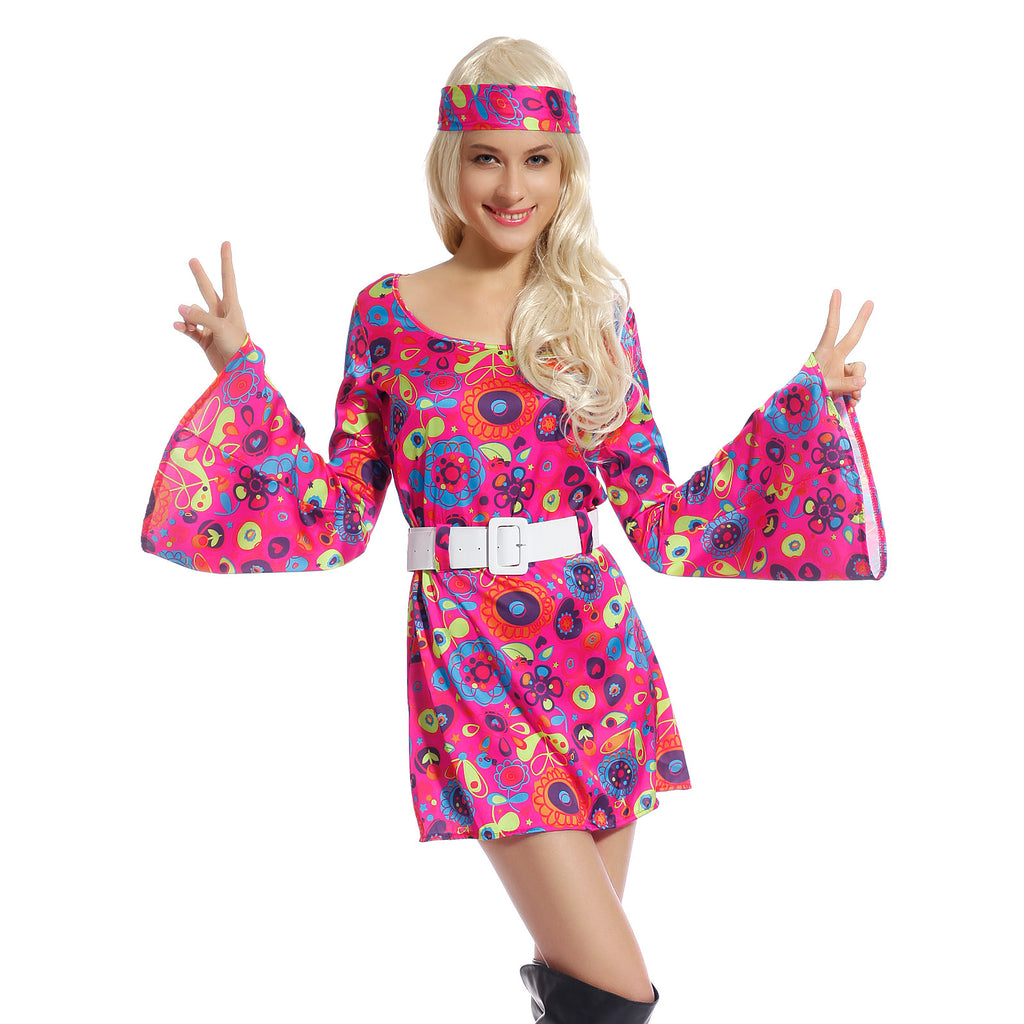 Ladies 1960s 1970s Hippy Fancy Dress