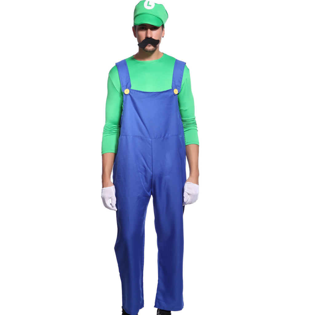 Mens Super Mario Luigi Costume