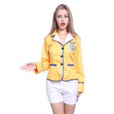 80s Ladies Hi De Hi Camp Helper Yellow Fancy Dress