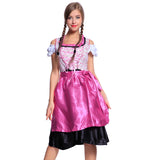 Women Oktoberfest Beer Maid Pink Costume