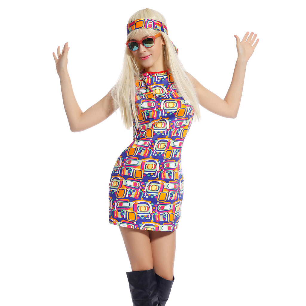 Ladies 1960s Retro Groovy Costume