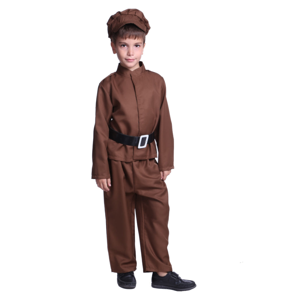 1940s World War II Boy Costume Brown