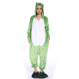 Unisex Adult Onesies Kigurumi Animal Pajamas Frogs Jumpsuit