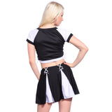 2 Pcs Sexy Womens Cheerleader Leader Fancy Dress