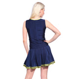 School Team Women's Cheerleading Color Matching Vest Skirt Navy