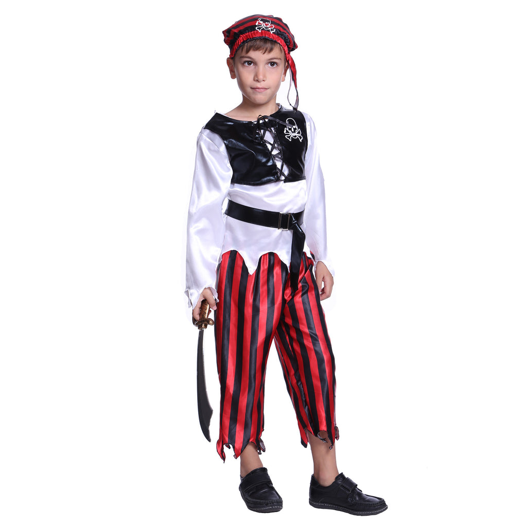 Boys Red Pirate Sailor Costume