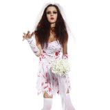 Ladies Bloody The Walking Dead Zombie BrideCostume