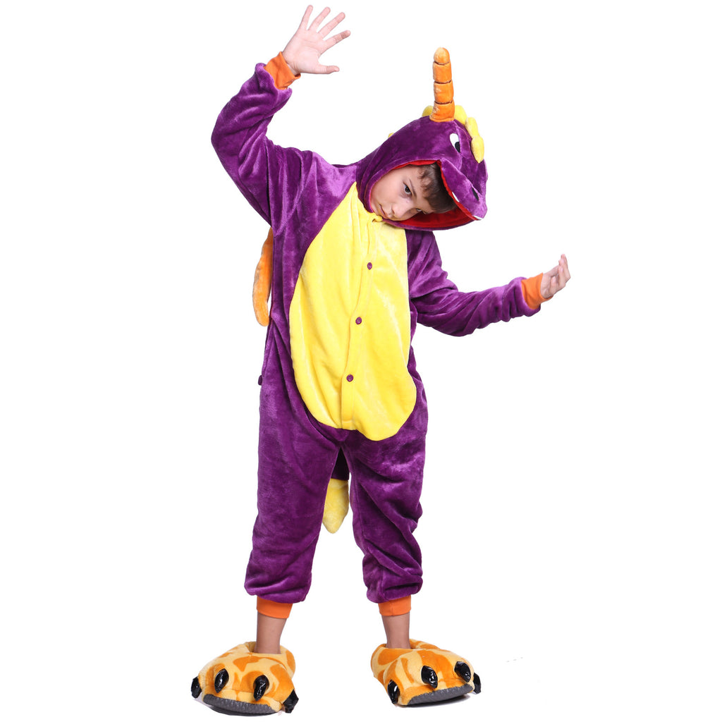 Unisex Kids Onesies Kigurumi Animal Pajamas Spyro the Dragon Jumpsuit