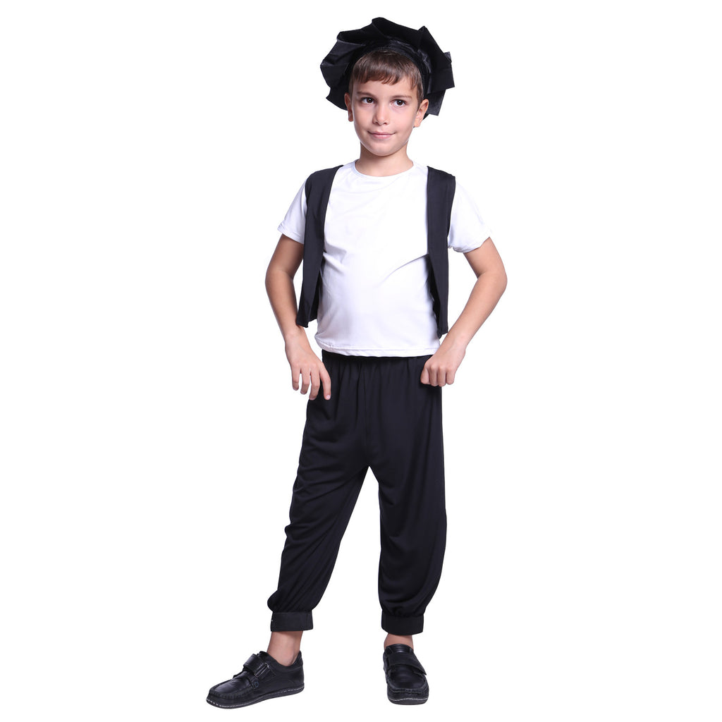 Kid's Tudor Style Little Peasant Medieval Street Boy Cosplay Costume