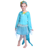 Girls Mermaid Costume Navy Blue