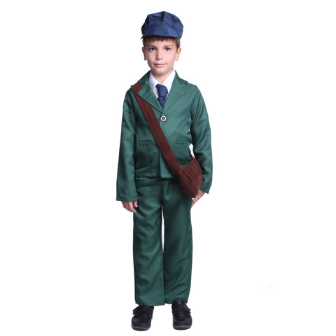 1940s World War II Boy Costume Blue