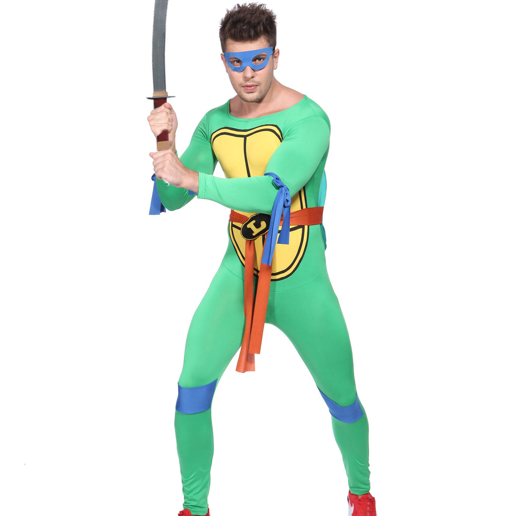 Men Ninja Turtle Costume Blue