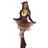 Womens Miss Reindeer Halloween Christmas Fancy Dress