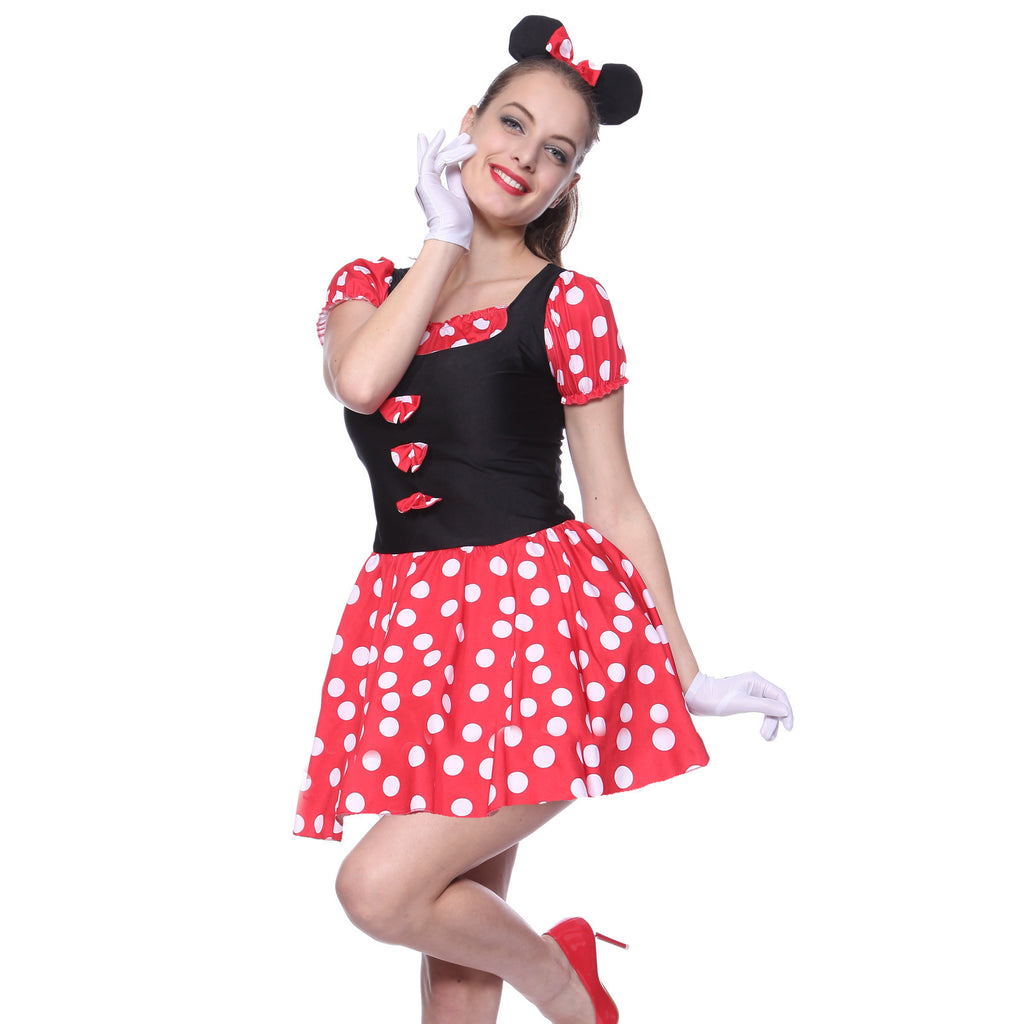 Minnie Micky Mouse Polka Dot Fancy Dress