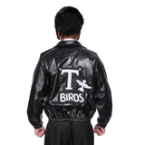 1950s Mens Grease Leather Look T-Bird Jacket
