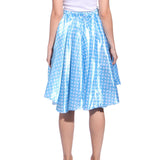 Ladies Grease Girl Style Blue Polka Dot Dress in 1950s Rockabilly
