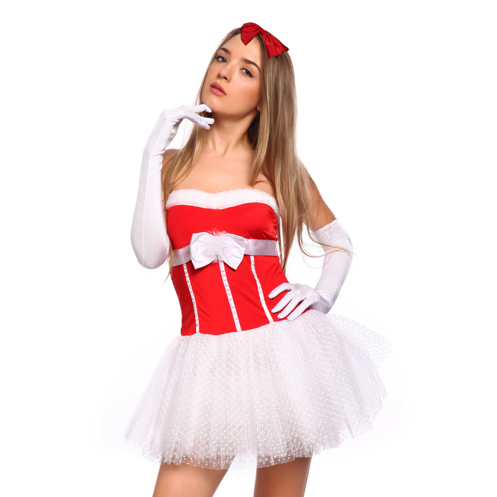 Sexy Women Santa Claus Costume Fancy Dress Xmas Party Outfit