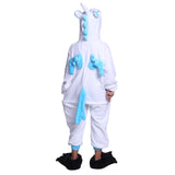 Unisex Kids Onesies Kigurumi Animal Pajamas Unicorn Jumpsuit Blue