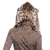 Furry Faux Fur Animal Ear Hoodie Hat