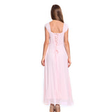 Long Chiffon Wedding Bridesmaids Gown Party Dress