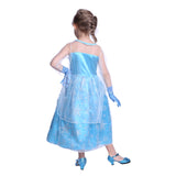 Ice Queen Elsa Princess Snowflake Costume