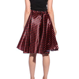 Ladies Grease Girl Style Black and Red Polka Dot Dress in 1950s Rockabilly