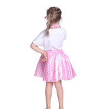 Girls Grease Girl Style Pink Polka Dot Dress in 1950s Rockabilly