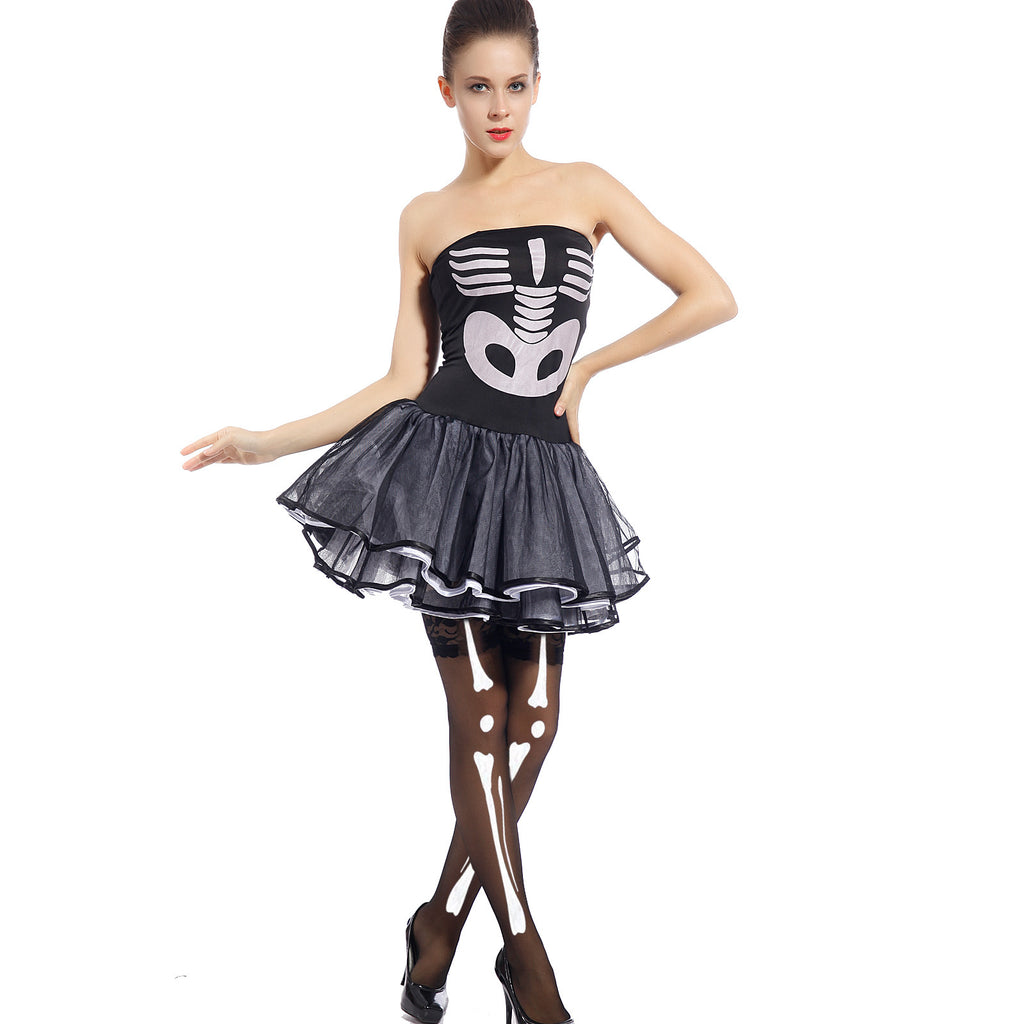 Sexy Skeleton X-Ray Bones Dress