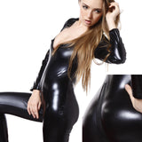 PVC Wetlook Catwoman Catsuit Teddies Jumpsuit