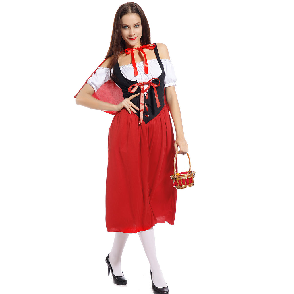 Ladies Fairytale Little Red Riding Hood Carnival Fancy Dress