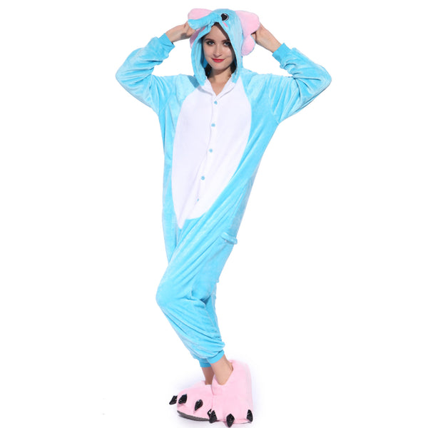 Unisex Adult Onesies Kigurumi Animal Pajamas Elephant Jumpsuit