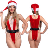 Sexy Miss Santa Claus Xmas Christmas Fancy Dress Costume