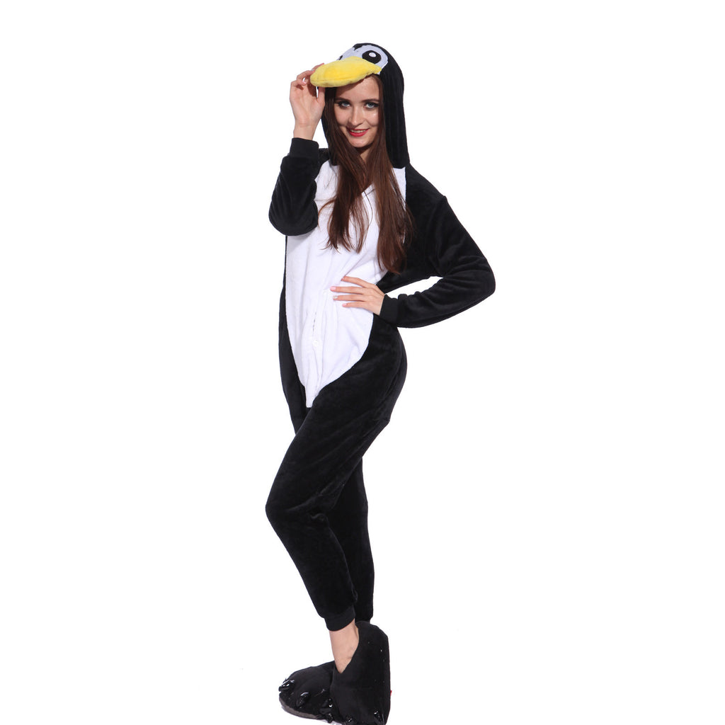 Unisex Adult Onesies Kigurumi Animal Pajamas Penguins Jumpsuit