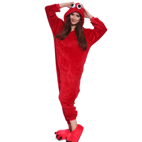 Unisex Adult Onesies Kigurumi Animal Pajamas Elmo Jumpsuit