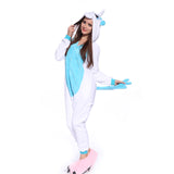 Unisex Adult Onesies Kigurumi Animal Pajamas Unicorn Jumpsuit Blue