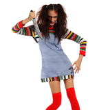 Horror Scary Ladies Seed of Chucky Doll Dress