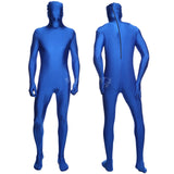 Pure color masked men show suit