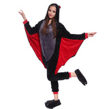 Unisex Adult Onesies Kigurumi Animal Pajamas Bats Jumpsuit