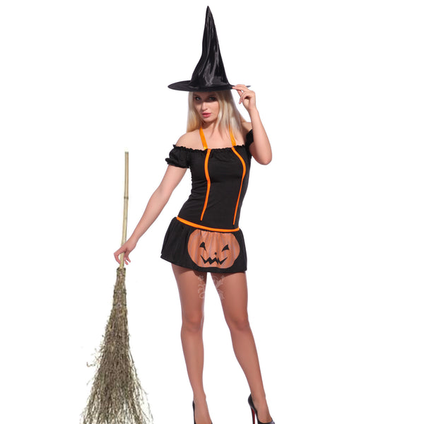 HALLOWEEN Wicked Witch Costume Fancy Dress Sex Skirt