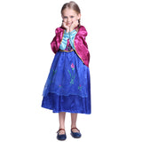 Kids Frozen Anna Dress Princess Queen Gown Costume