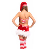 Womens Santa Claus Costume Festive Xmas Fancy Dress