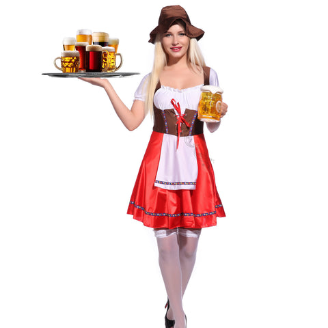 Bavarian Oktoberfest Beer Festival Fancy Dress Red